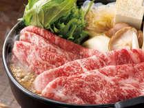 *【すき焼き:(イメージ)】とろけるお肉を召し上がれ!選べるメイン料理。
