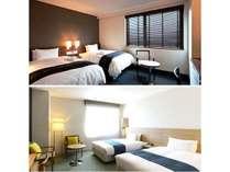 ツインルーム※お部屋の仕様は2タイプございます設備は同じ※ご要望のある方は備考欄へご記入ください