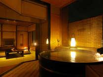 『季のはな 展望露天付き客室』温泉露天風呂付客室思いのままの快適なひとときをお過ごしいただけます