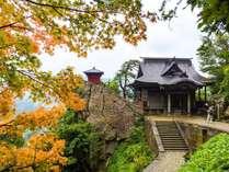 【9月の山寺】初秋の色付く山寺。当館から車で約15分の山形観光のハイライト。