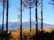 食堂から見える御嶽山
