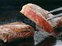 「福島牛ステーキ」甘いブランド牛を、陶板焼きでお召し上がりください。