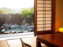24時間好きな時に宿自慢の温泉が楽しめる露天風呂付き和室