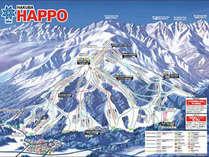 広大なスキーエリア八方 ゴンドラまで徒歩圏内