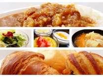 手作りオリジナルカレーをはじめ、具沢山味噌汁などこだわりの朝食をご用意。