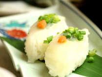 【ふぐコース一例】贅沢なふぐの握り寿司は絶品です。