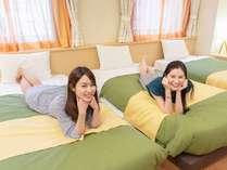 スーペリアファミリールームは、お友達同士やご家族・お子様連れのお客様に人気のお部屋です。