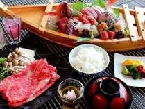 舟盛と選べるお肉料理