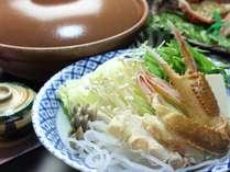 カニ鍋専用に作られた創業から守られている自家製お出汁がカニの旨味を引き出します