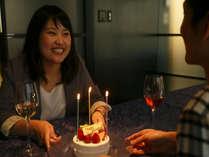 レストランでのサプライズのお祝いも承っております。