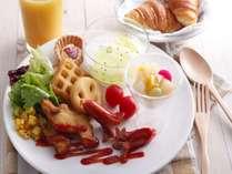朝食バイキングでもお子様が楽しく食べられるキッズメニューもご用意しております。