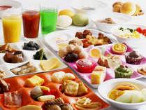 朝食バイキングイメージ。種類豊富なメニューからお好きなメニューを♪