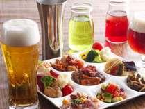 「ワンプレートビア」お好きなドリンク1杯+お好きな料理をワンプレート分お楽しみいただけます♪