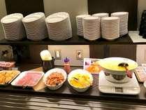 朝食バイキングの一例※一部メニューは日替わりで提供いたします。