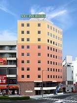 当ホテル外観♪山形駅の東口を降りればすぐ目の前に見ることができます☆