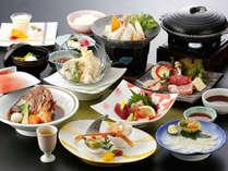 【つわぶき会席】長州ブランド肉食べ比べ♪高杉晋作の好物「鯛荒焚き」、真ふくなど彩り鮮やかな会席料理