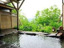 *温泉/高原の緑に癒される野天風呂(冬期は閉鎖)