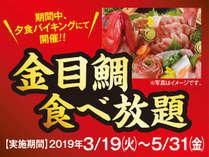熱川ハイツOPEN記念!!豪華にやっちゃいます!!金目鯛食べ放題フェア!!