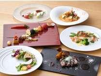 【ご夕食】京都の食材をオリジナルの調理法で。ワインセラーには150種のワインを取り揃えております。