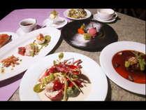 平日限定 森のログレストランディナー おもてなしフルコース(送迎あり)&朝食付き 和洋室プラン