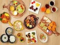 ■種類豊富な和洋中が揃った朝食バイキング■
