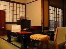 ☆【本館/風間】帖+6帖の和室二間です。内湯・トイレがございます。
