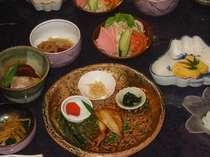 ご朝食の「和の朝ごはん」一例。いろんなおかずでご飯がすすみます♪