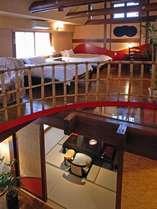 【離れ/蔵間】内風呂・露天風呂付の2階建て和洋室です。