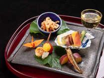 *【夕食一例/前菜】五感で楽しんでいただけるお時間となりますよう心がけております。