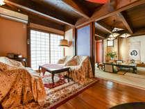 *【離れ/蔵間】露天風呂付の2階建て和洋室です。広いお部屋でお寛ぎ下さい。