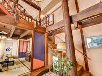 *【離れ/蔵間】内風呂・露天風呂付の2階建て和洋室です。