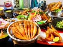 【激レア!幻の海老を食べよう!】越前海老会席料理×名物お肉料理満喫コース!1泊2食付き
