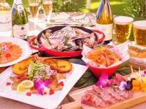 【リッチなペア旅プラン】海と夕陽の見えるテラスで楽しむ!ワインと新鮮魚貝のspecialディナー