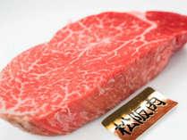 【*松坂牛】フィレステーキ。一頭の牛からほんのわずかしかとれない高級部位です。