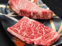 【*松坂牛】サーロインとフィレの合い盛り。二種類の味を楽しめます。