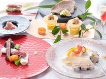 ★★イミグレ自慢の創作フレンチディナーのイメージ写真です。氷見・富山の季節の素材をお料理しています。