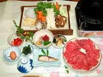 すきやきコース♪写真のお肉と野菜は3人前の場合