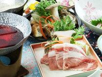【豚しゃぶ】ブランド豚「米澤豚一番育ち」をワインだしでいただく当館にしかない逸品!
