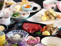 【特選牛ステーキ】肉のキメが細かく旨みが特徴の山形牛の美味しさをガツンと感じるステーキ