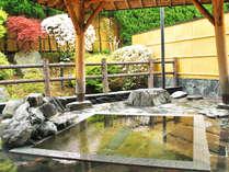 *【露天風呂】四季折々の景色に癒される開放的な露天風呂。