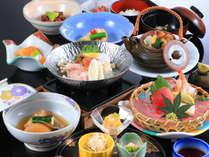 *【夕食一例】料理長オススメプラン。全12品、旬の味覚を味わえるメニューです。