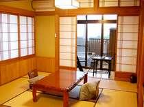 ゆったりお過ごしいただける和室。露天風呂付です(松の間)