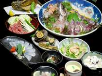 厳選した旬の食材をふんだんに使用した会席料理(一例)