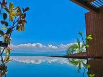 部屋 客室露天風呂錦江湾を眺めながら