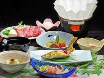 *【夕食全体例】素材本来の味を大切にした料理の数々をお楽しみ下さい。