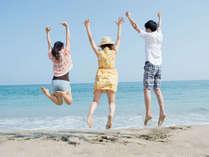 開放的な気分になれる雄大なビーチ