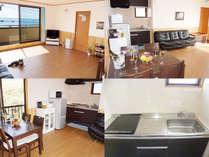 オーシャンビューでキッチン、調理器具、食器付きのお部屋です