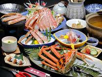 ≪越前蟹会席≫お気軽プラン、茹で蟹1/2の人気コースです。