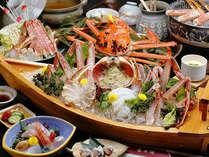 【越前蟹会席】フルコースにはもちろん活蟹の贅沢盛りが付いています。