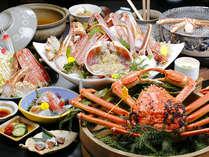 【越前蟹会席】フルコースだけの贅沢!活蟹の刺身、甲羅焼き、しゃぶしゃぶ、焼き蟹を